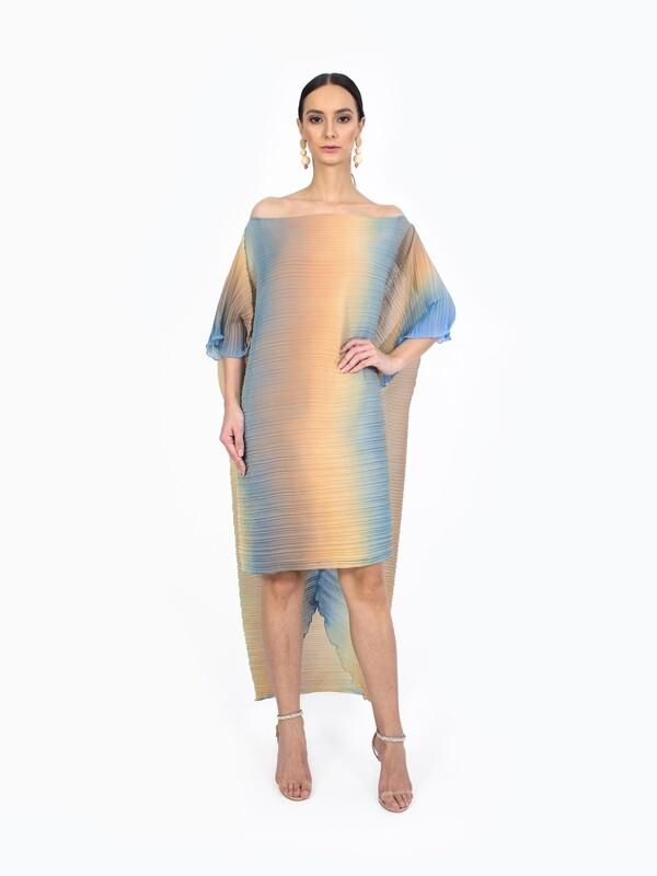 OMBRE CAPE DRESS