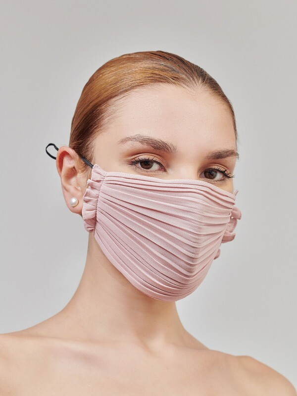 PLEATED FACE MASK - PINK
