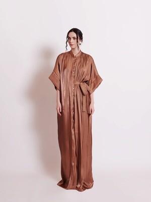SIGNATURE SHIRT DRESS - BRONZE