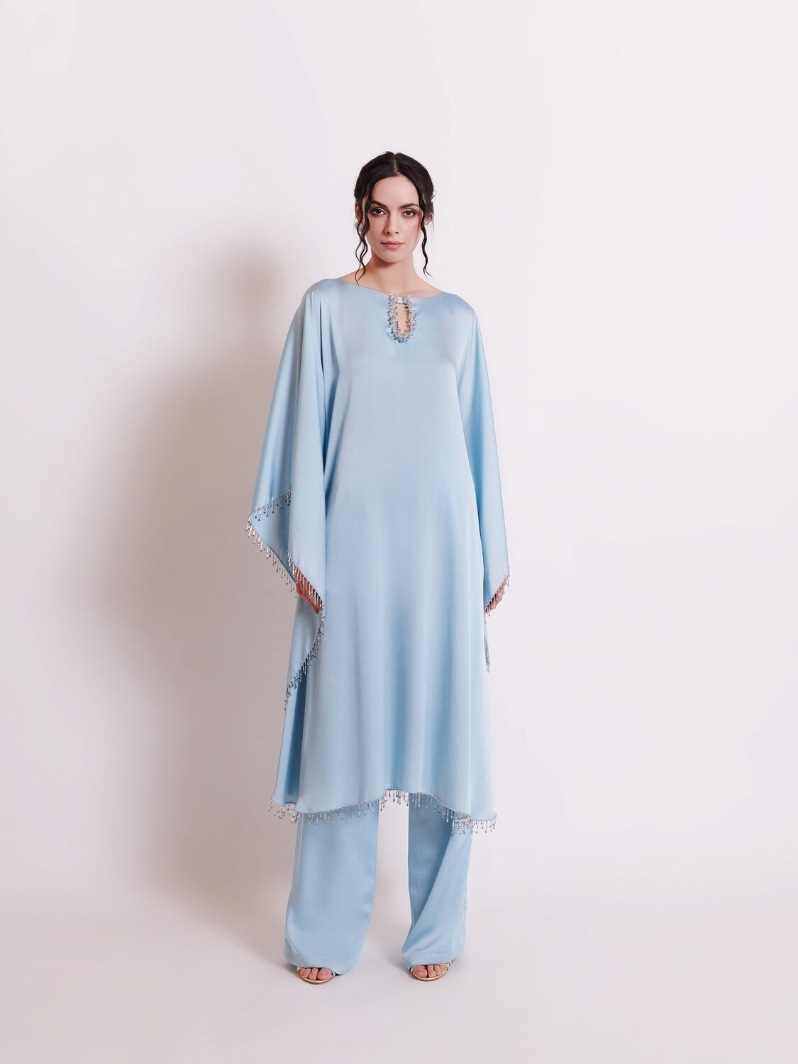 THE KURTA ENSEMBLE - LIGHT TEAL