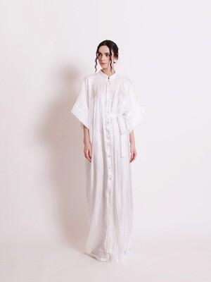 SIGNATURE SHIRT DRESS - WHITE