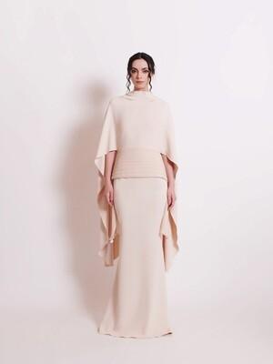 THE AFZAN DRESS - NUDE