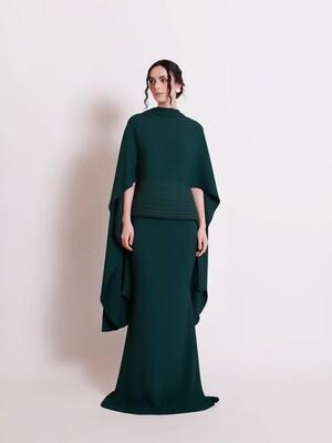 THE AFZAN DRESS - EMERALD