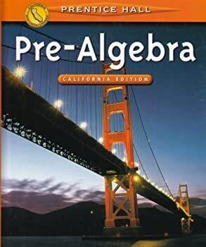 Pre-Algebra: California Edition - USED