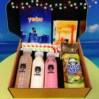 Christmas Bubble Tea Making Postal Gift Box - Milk Tea (pre-order for in-store collection of shipping nationwide)