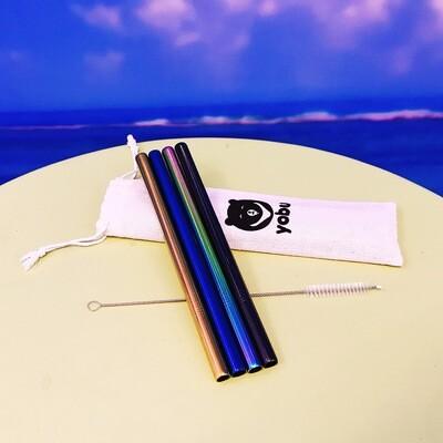 yobu Stainless Steel Straw Pack (4 straws)