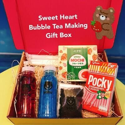Sweet Heart Bubble Tea Making Postal Gift Box - Sweet Love Fruit Tea