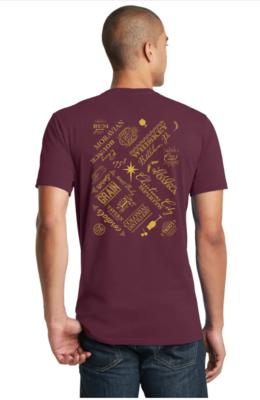 Men's T-shirt Burgundy