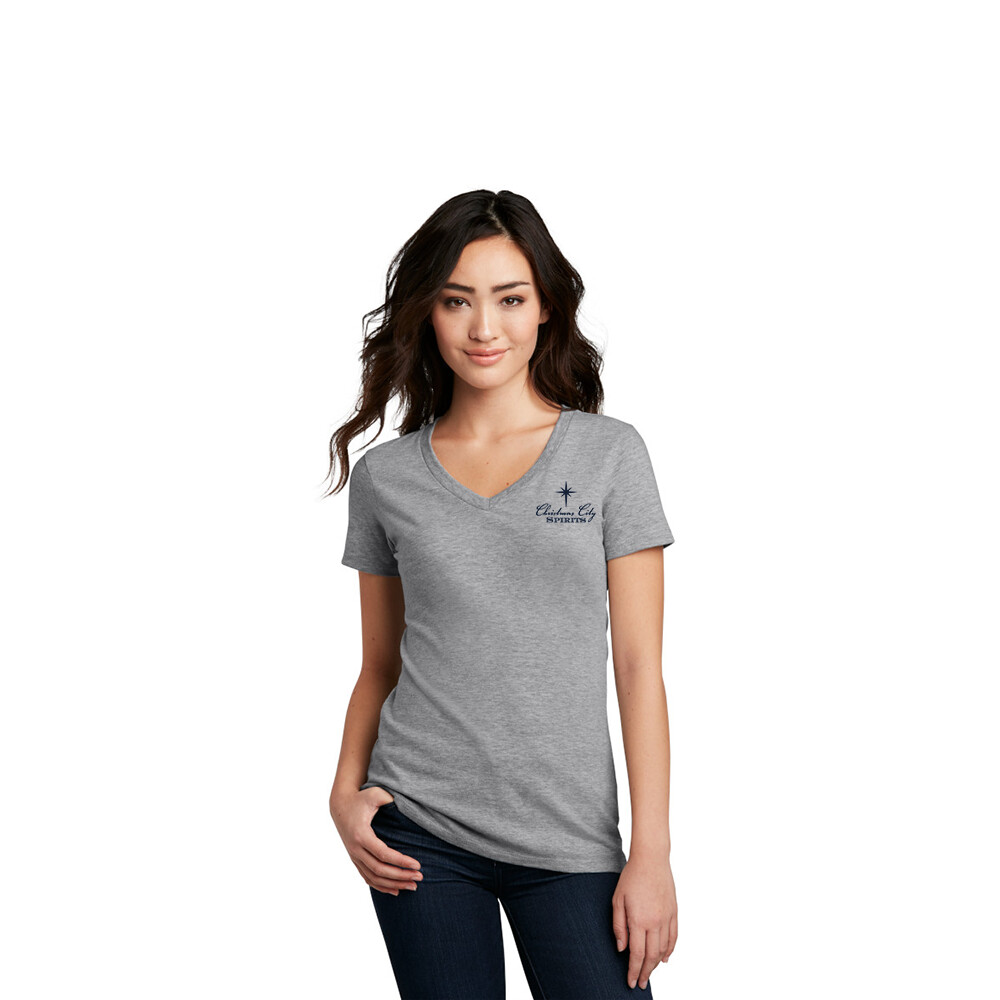 Women's V-neck T-shirt (Grey)