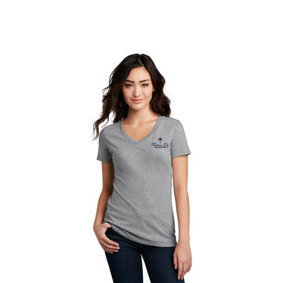 Women's V-neck T-shirt (Grey)