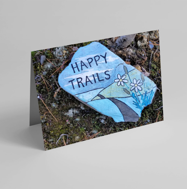 Set of 6 Folded Note Cards - Something For Hikers No. 1