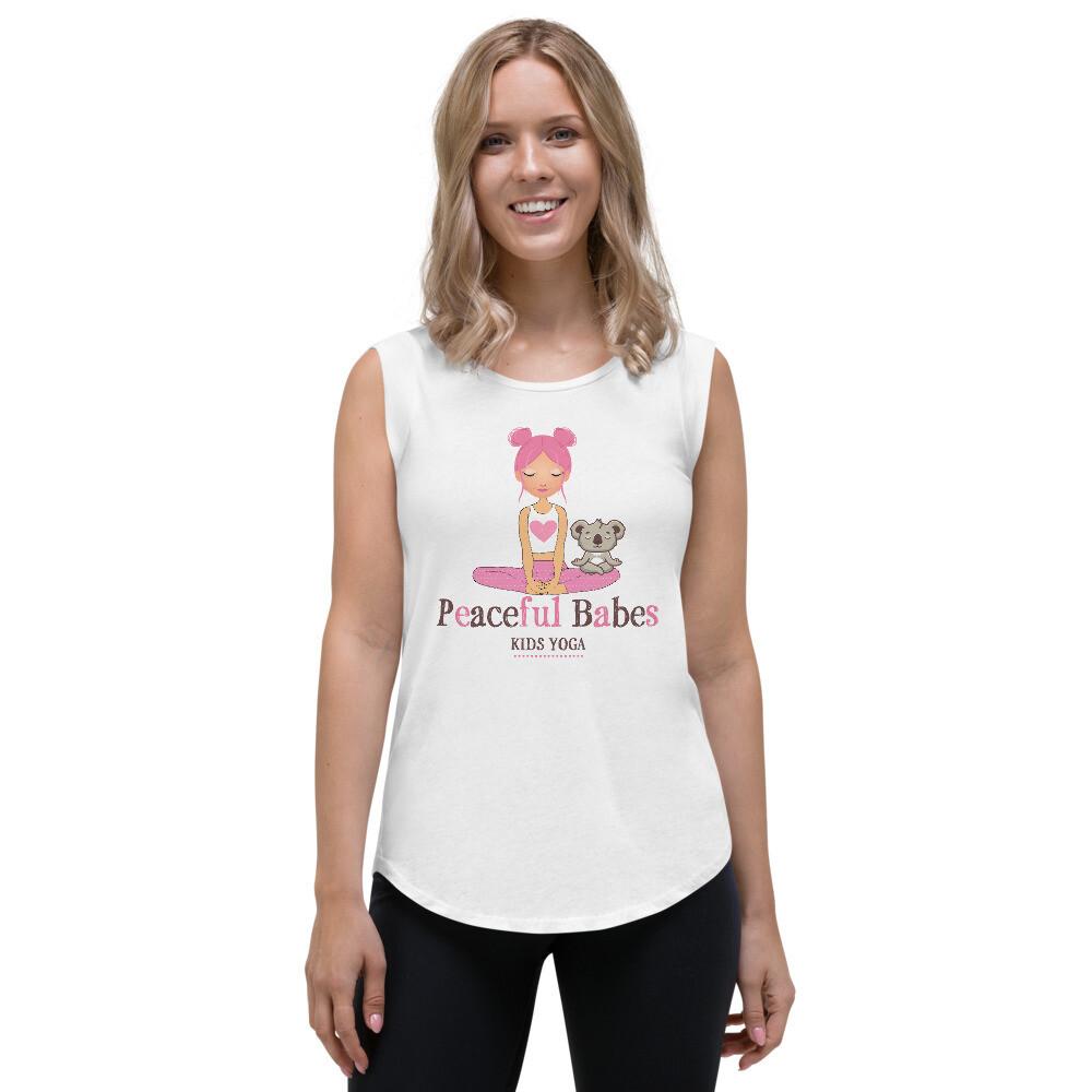 Peaceful Babes Teacher Cap Sleeve T-Shirt