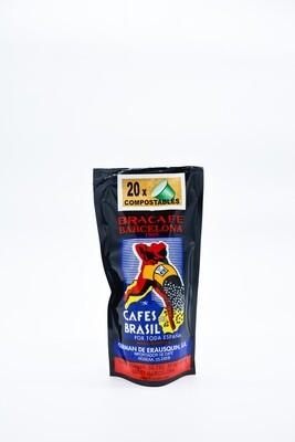 Bolsa de 20 cápsulas COMPOSTABLES de café Natural para cafetera sistema Nespresso