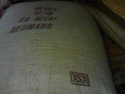 Saco vacío de café Arábica Descafeinado