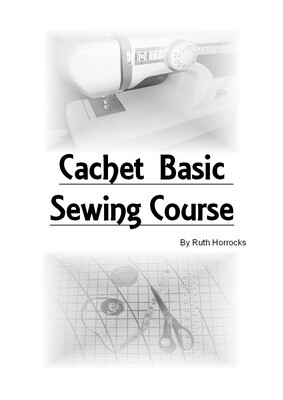 E LEARN TO SEW MANUAL SENT TO YOU BY POST