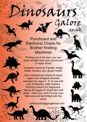 B Dinosaurs Galore Pattern Book printed copy incl UK postage