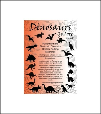 C Dinosaurs Galore Pattern Book printed copy incl overseas postage