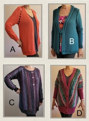 E Machine knitting patterns hard copy posted to you