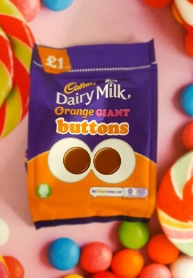 Cadbury Orange Giant Buttons