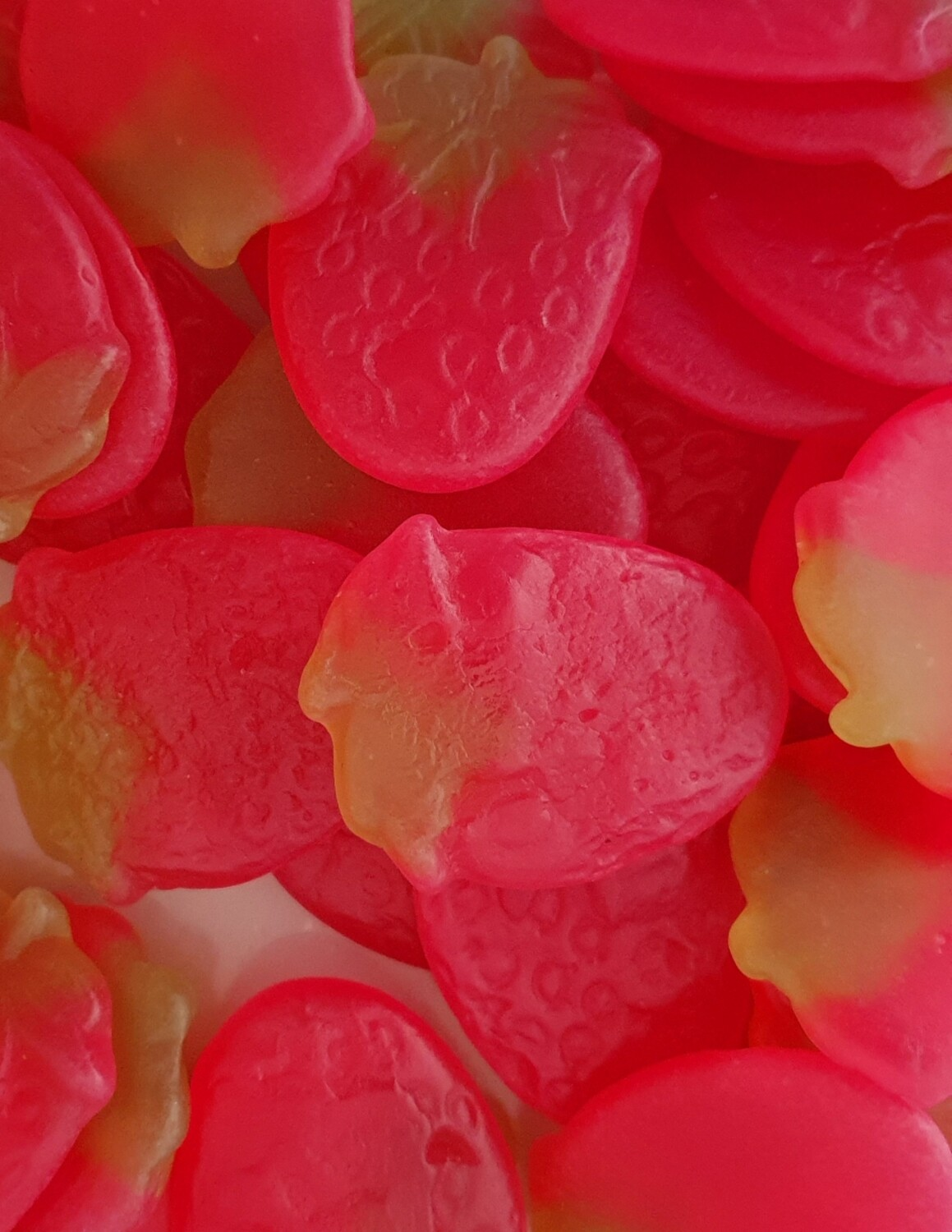 Giant Strawberries (Strawberry Flavoured Jelly Sweets)