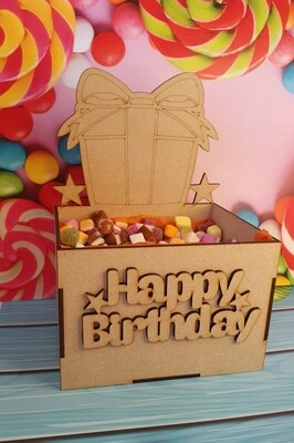Wooden Treat Box - Present