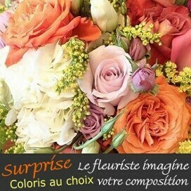 Composition du fleuriste coloris au choix