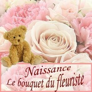 Bouquet du fleuriste avec ourson