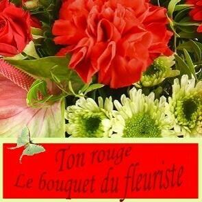 Bouquet du fleuriste ton Rouge