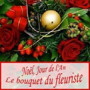 Bouquet de Noël ton rouge