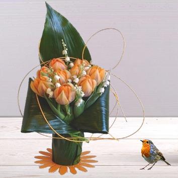Botte de tulipes et muguet