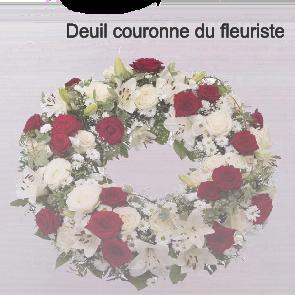 Deuil couronne du fleuriste