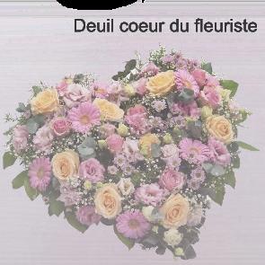 Deuil coeur du fleuriste