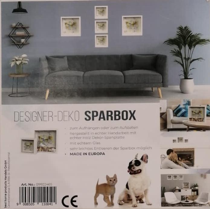 Designer Deko Sparbox