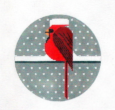 Cool Cardinal  (hand painted from The Meredith Collection)