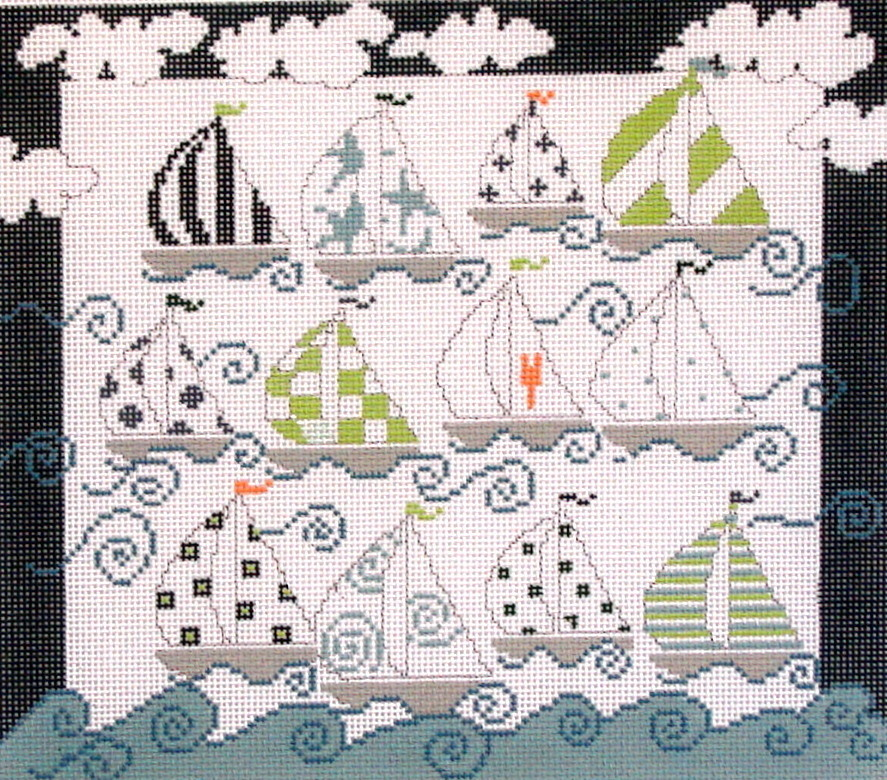 Sailboats   (hand painted from Pippin Studios)