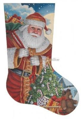 Santa Moonlit Arrival    (hand painted by Liz Goodrick Dillon from Susan Roberts)