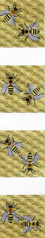 Bees      (handpainted needlepoint canvas from Susan Roberts)