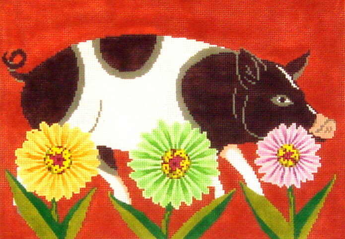 Petal Pusher Pig    (handpainted from The Meredith Collection)