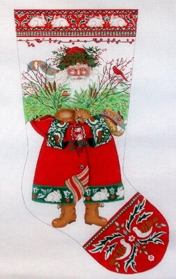 Woodland Santa    hand painted from Love You More Designs