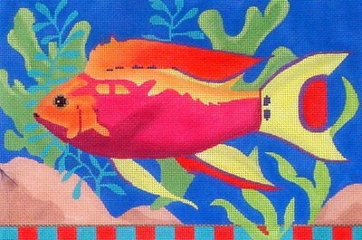 Pink Fish      (handpainted from VNG Design, includes Stitch Guide)