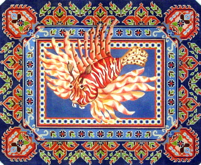Lion Fish      handpainted from Canvasworks Designs