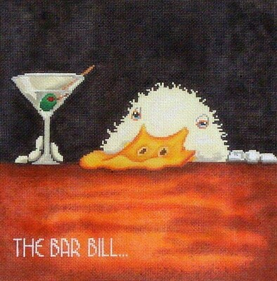 The Bar Bill.......       (handpainted canvas from CBK)