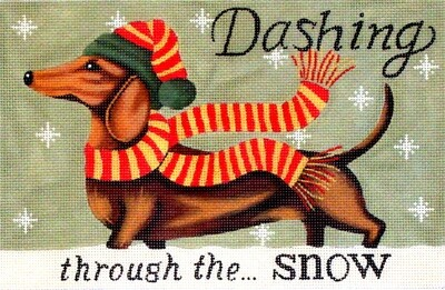 Dashing     (handpainted from PLD Needlepoint)