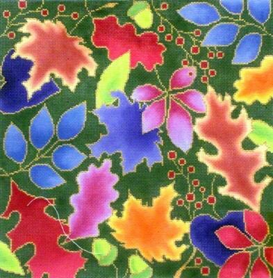 Ginkgo Leaves, handpainted by Brenda Stofft