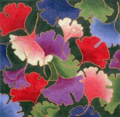 Gingko Leaves   (handpainted by Brenda Stofft