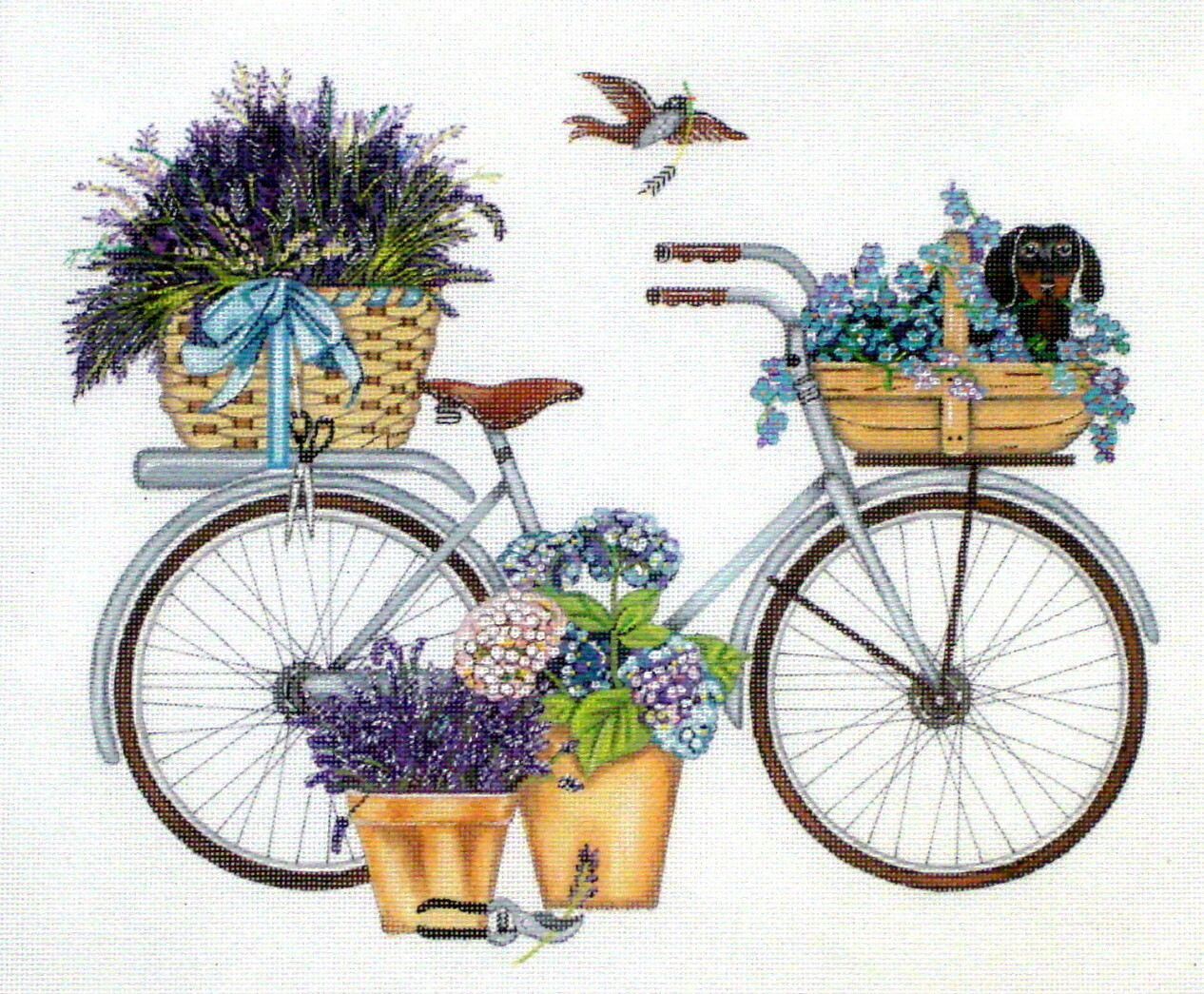 Lavender Bike     (hand painted  from Melissa Shirley)