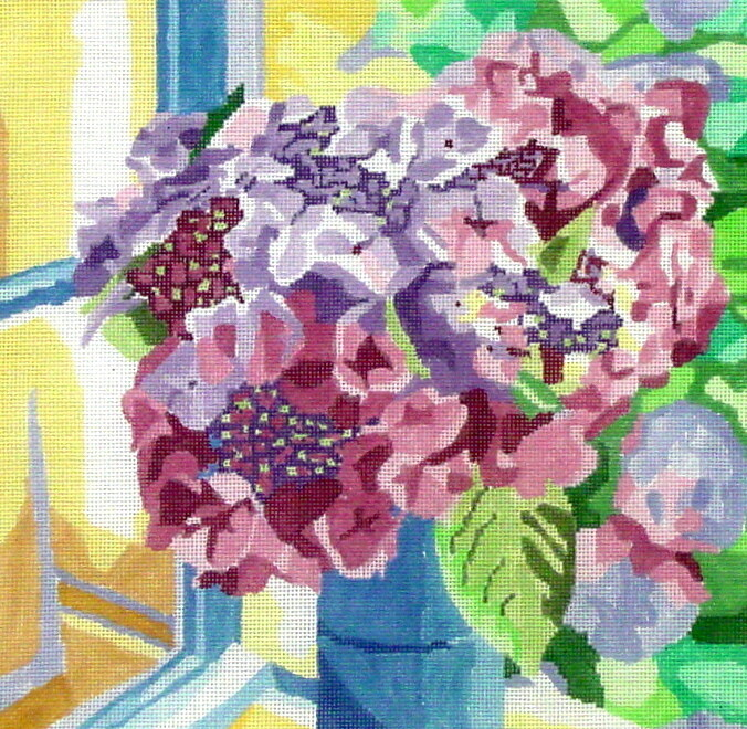 Summer Day Hydrangea   (hand painted from Jean Smith)