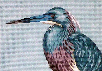 Tri-Color Heron    (hand painted from Needle Crossing)