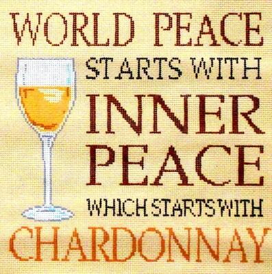 Chardonnay        (handpainted by Sandra Gilmore from Fleur de Paris