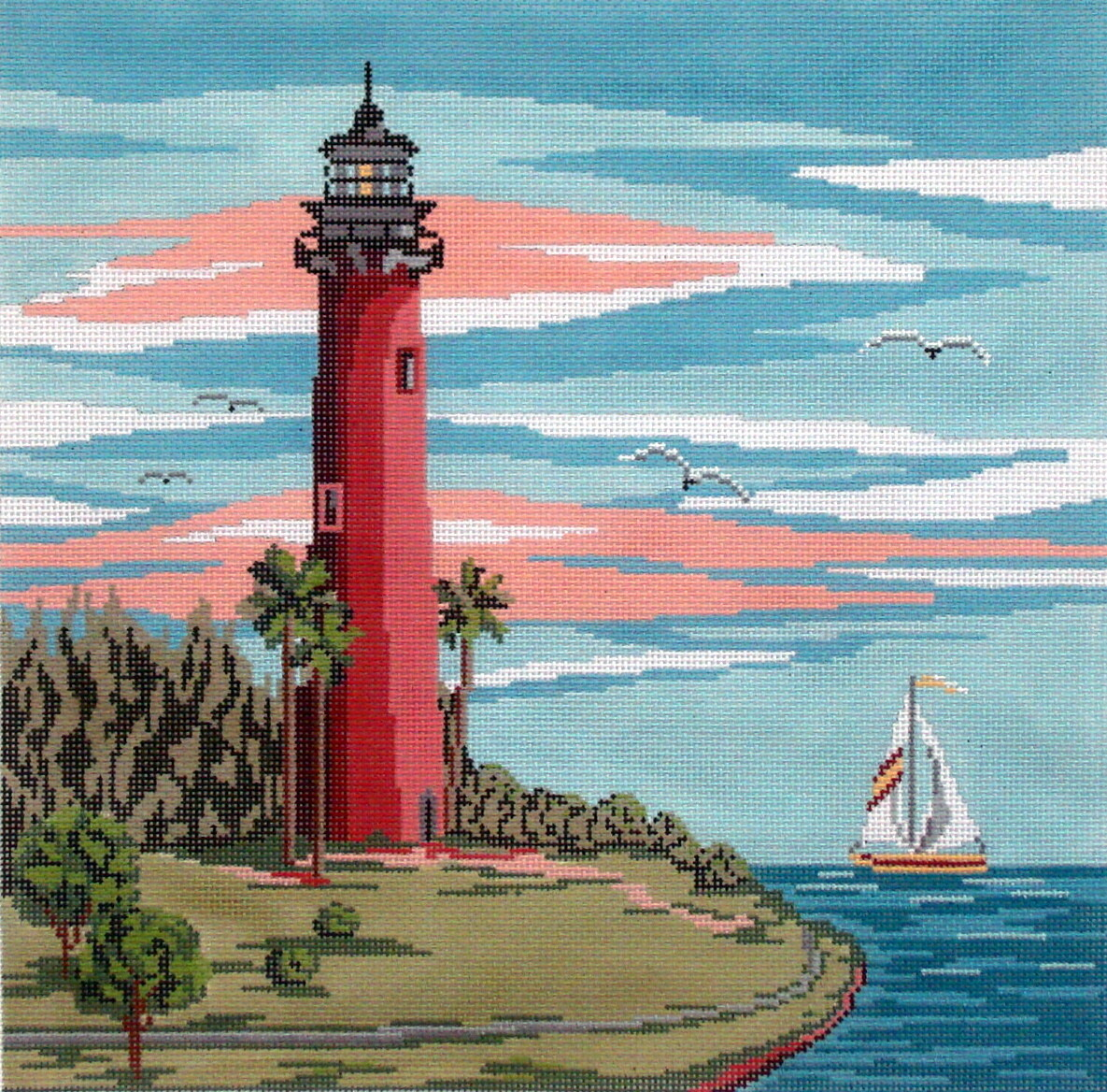 Jupiter Lighthouse   (handpainted from Needle Crossing